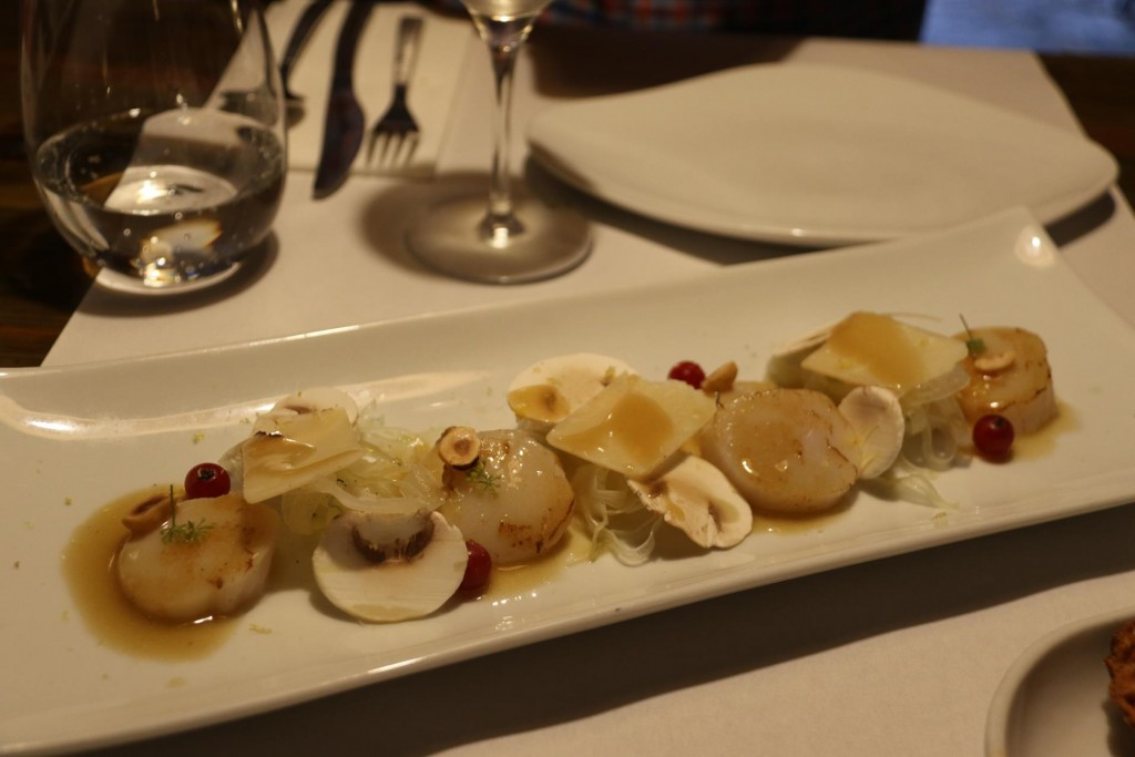 Next we have the scrumptuous meuniere scallops with fennel