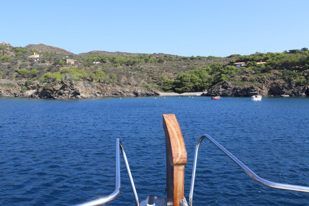 We decide to go into Cala Guillola which looked very pleasant