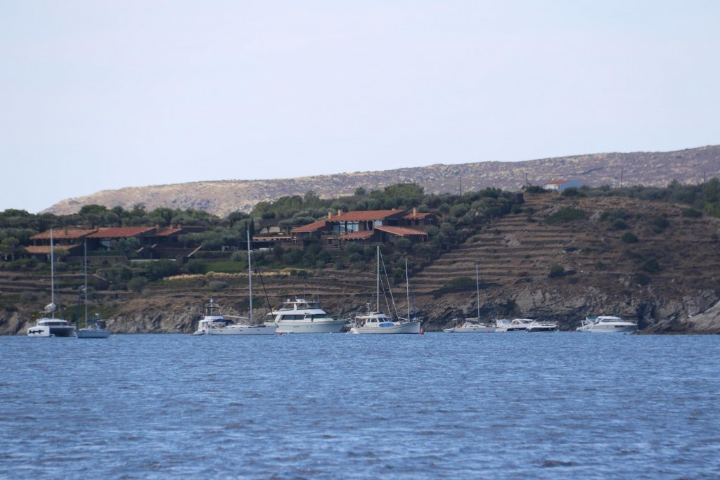 The bay by Port Lligat is a safe anchorage for local boats
