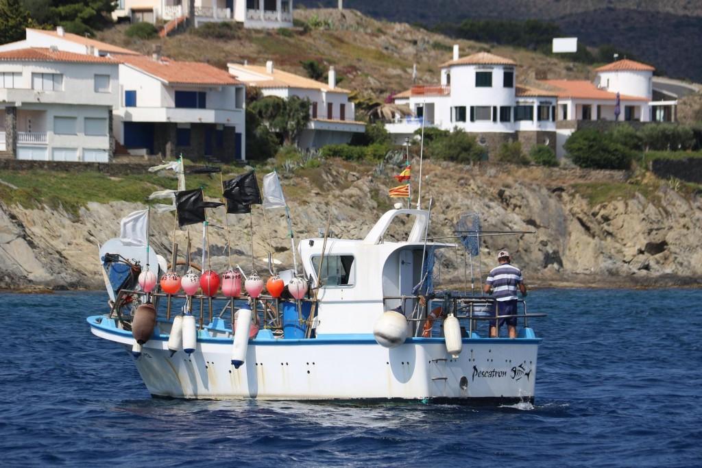 Continuing back towards Cadaques we pass several fishing boats