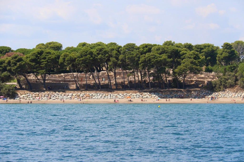 The remains of the archaeological site of Empuries are those of both a Greek trading port and the remains of a  Roman military camp