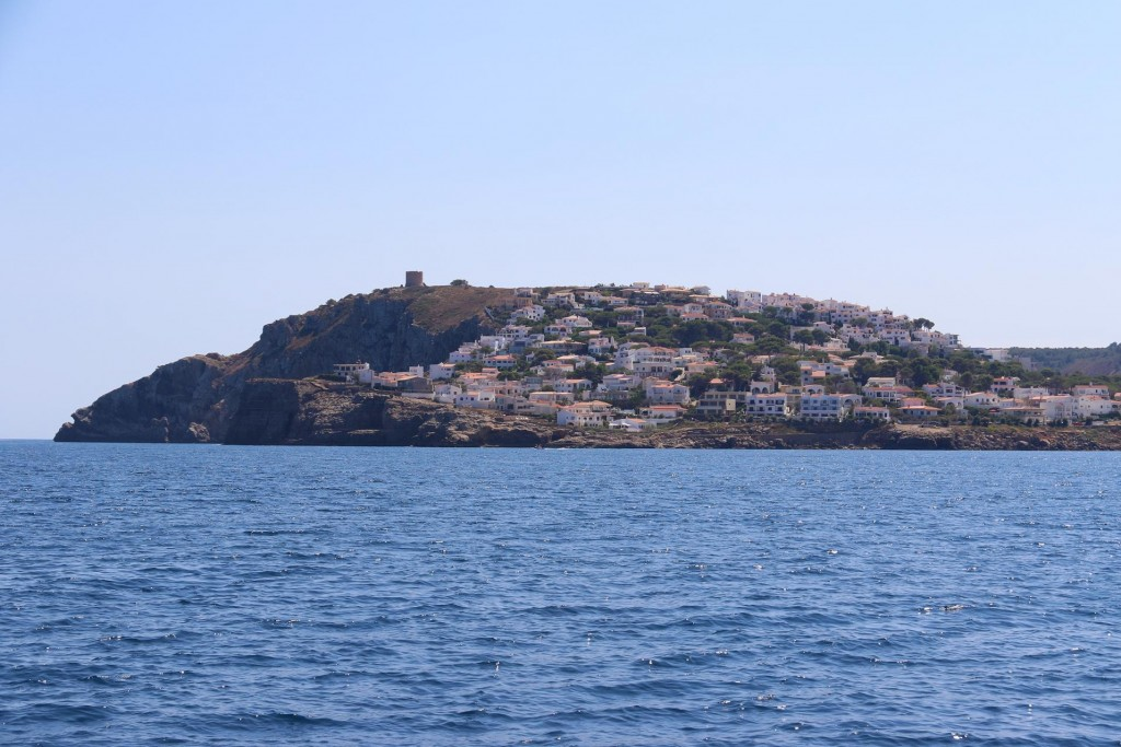 As we continue we pass the nearby town of L'Escala
