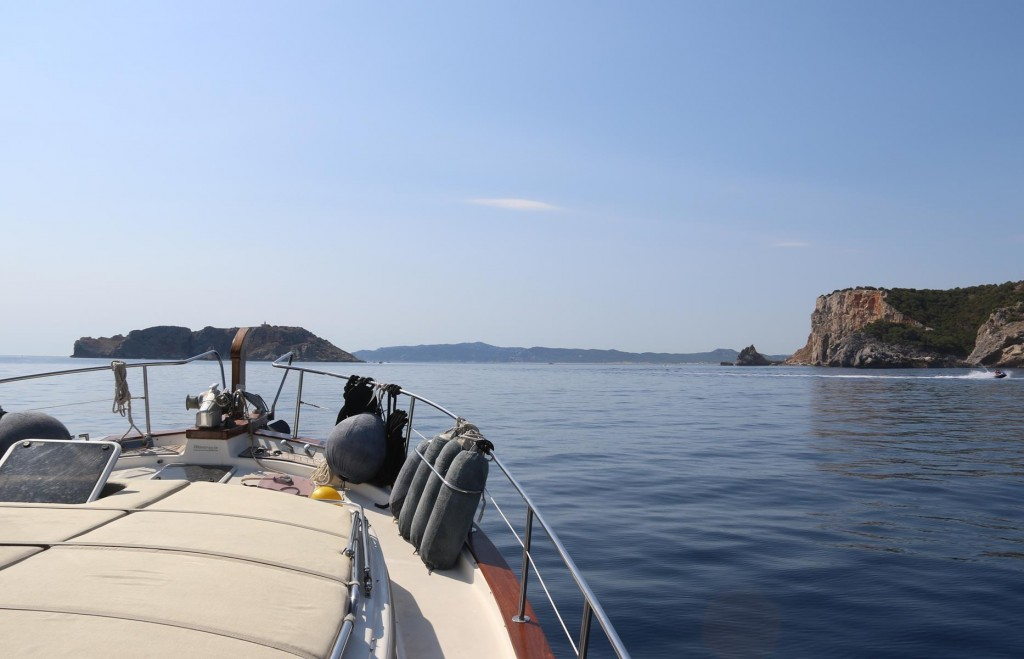 Continuing southeast down the coast we approach the Illes Medes off the coast by the town of L'Estartit