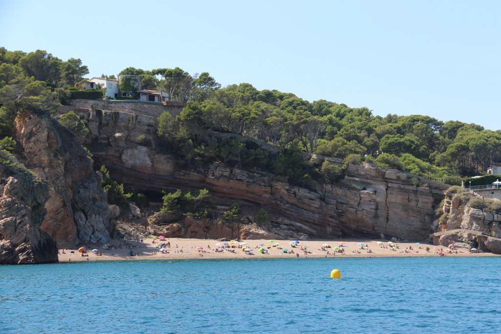 Playa Illa Roja a very popular secluded beach near the town of Begur