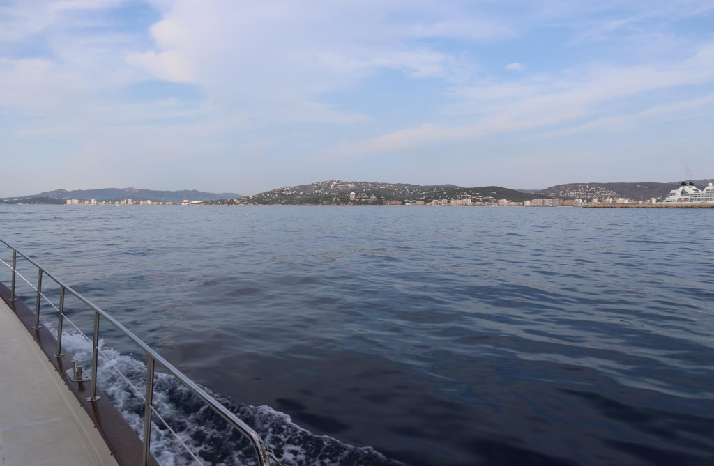We pass by the town of Palamos