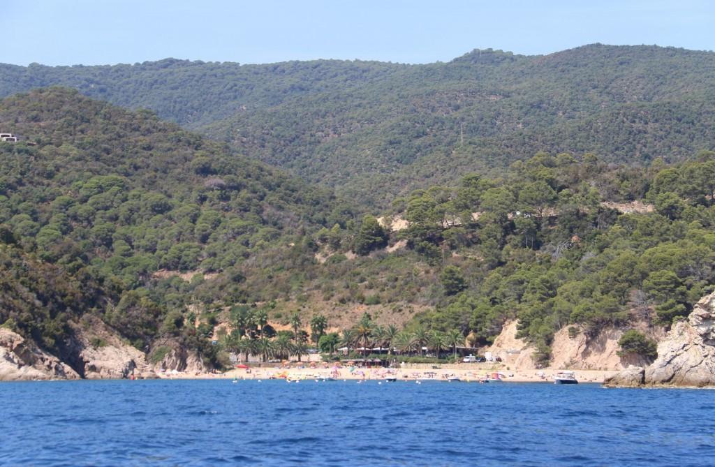 A popular beach in Cala Guiverola