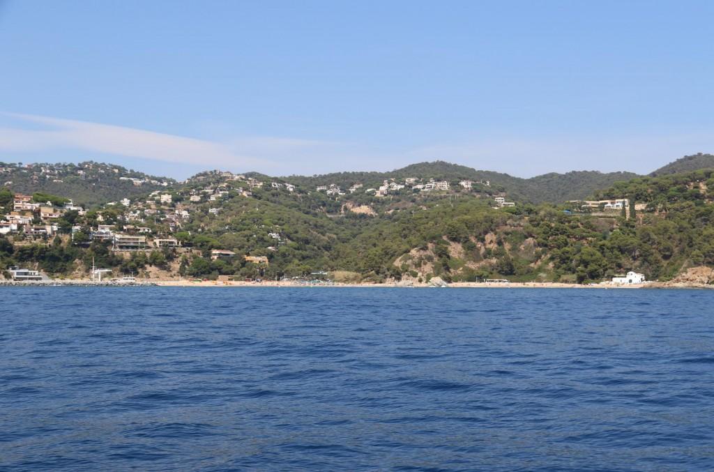 The beautiful beach at Cala Canyelles