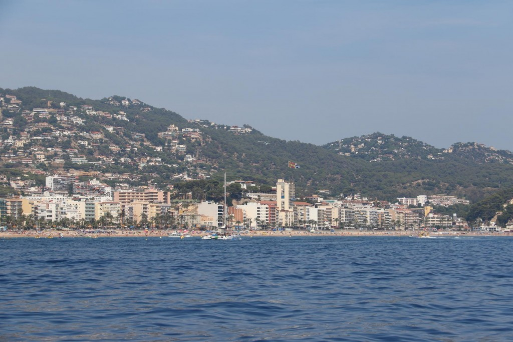 Looking back to the holiday resort of Lloret de Mar