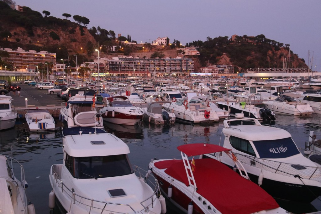 Overlooking the marina in the port