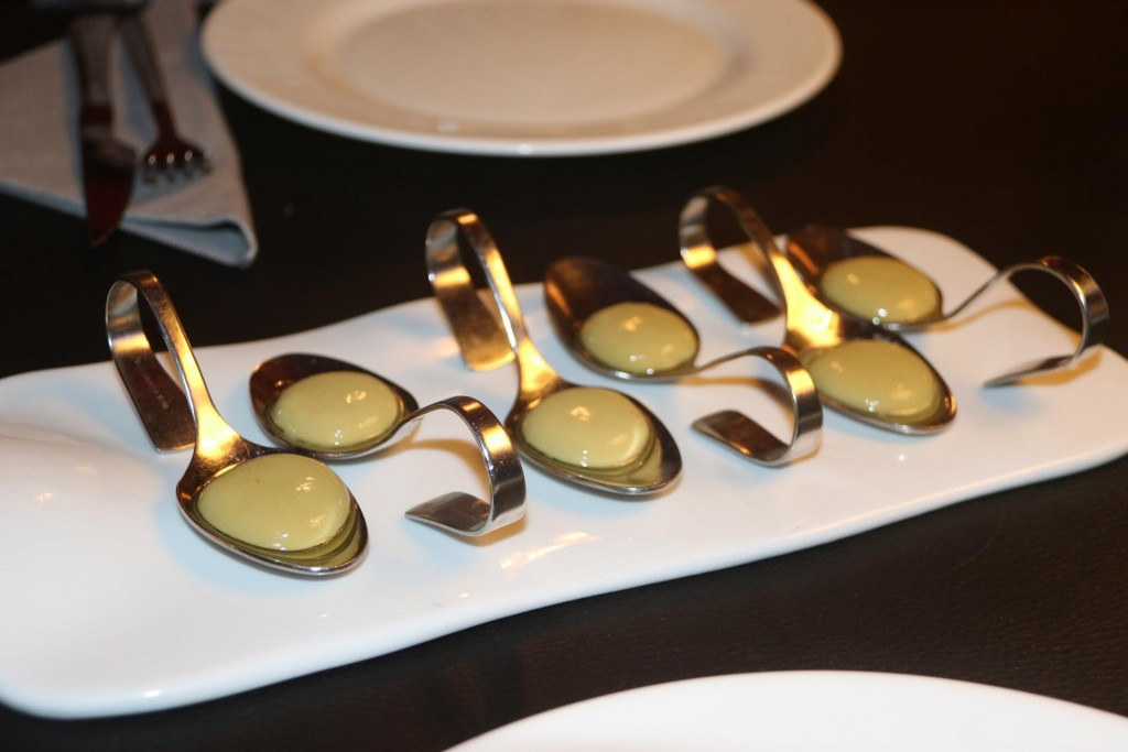 Our first course was the amazing 'spherical olives'