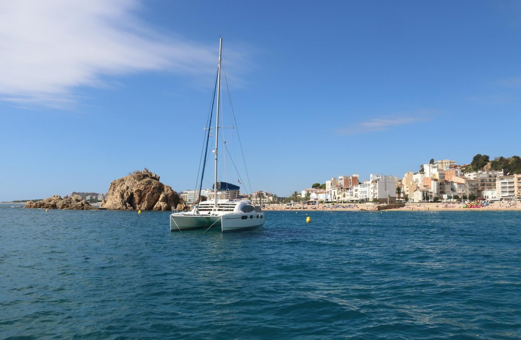We wake up to another pleasant quite warm day in Blanes