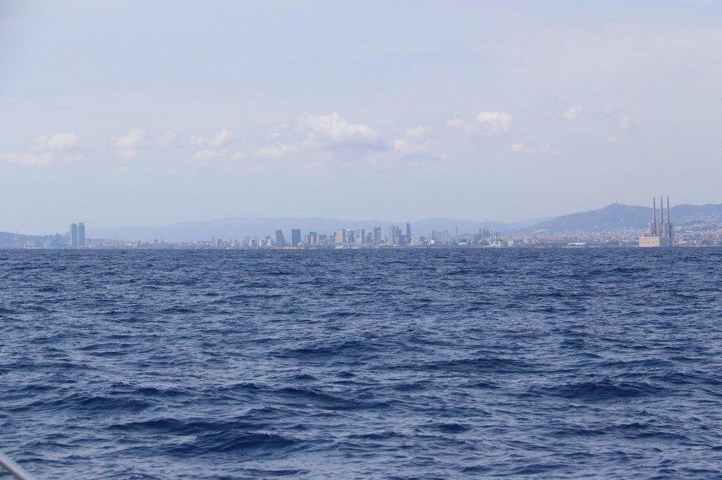 In the far distance we can see the outline of Barcelona