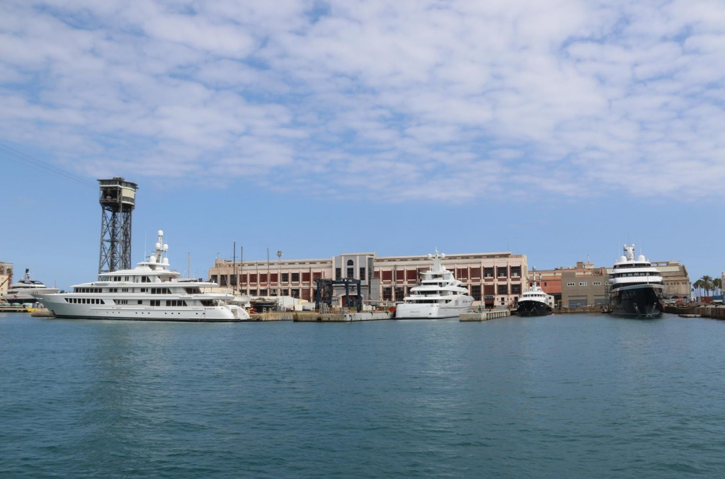 No shortage of super yachts in the port
