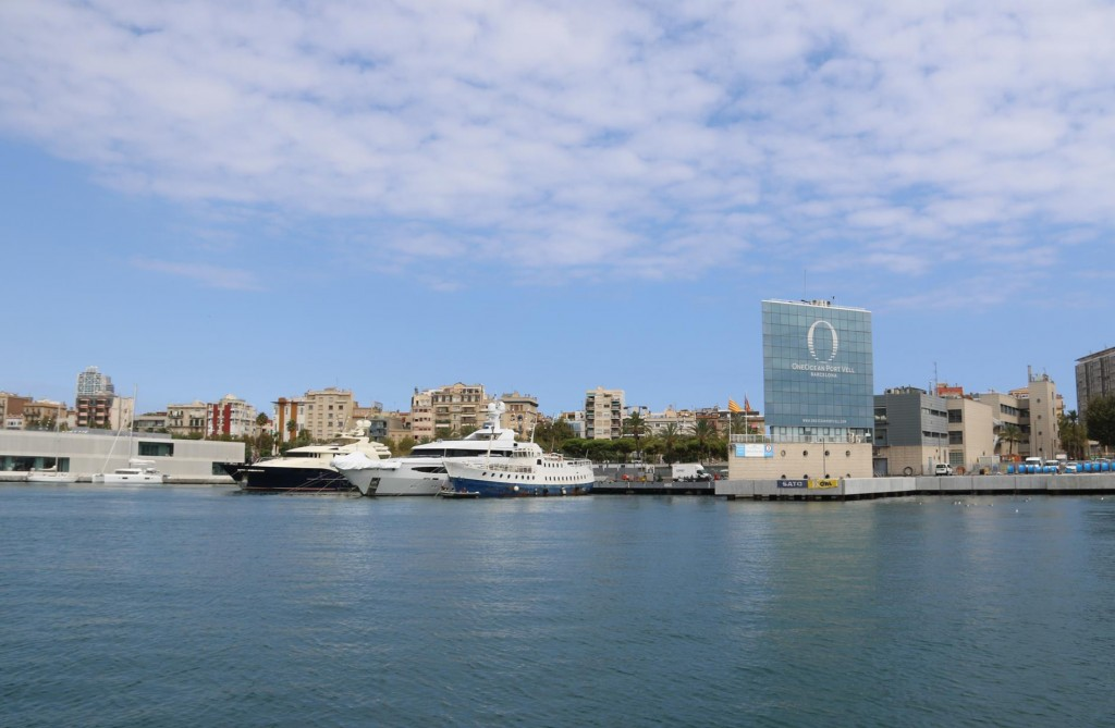 The entrance to OneOcean Port Vell the famous marina in Barcelona