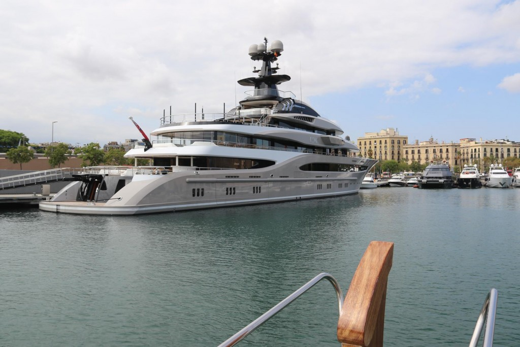 Kismet, a 95m luxury motor mega yacht which was built in 2014, is moored in the harbour at the moment