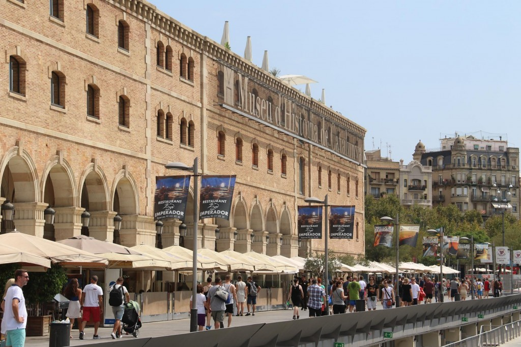 The old 1880's warehouses by the marina have been recently converted into the Palau de Mar, a building now housing offices, restaurants and the History Museum of Catalonia